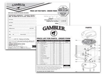 Gambler Order Form/Parts List