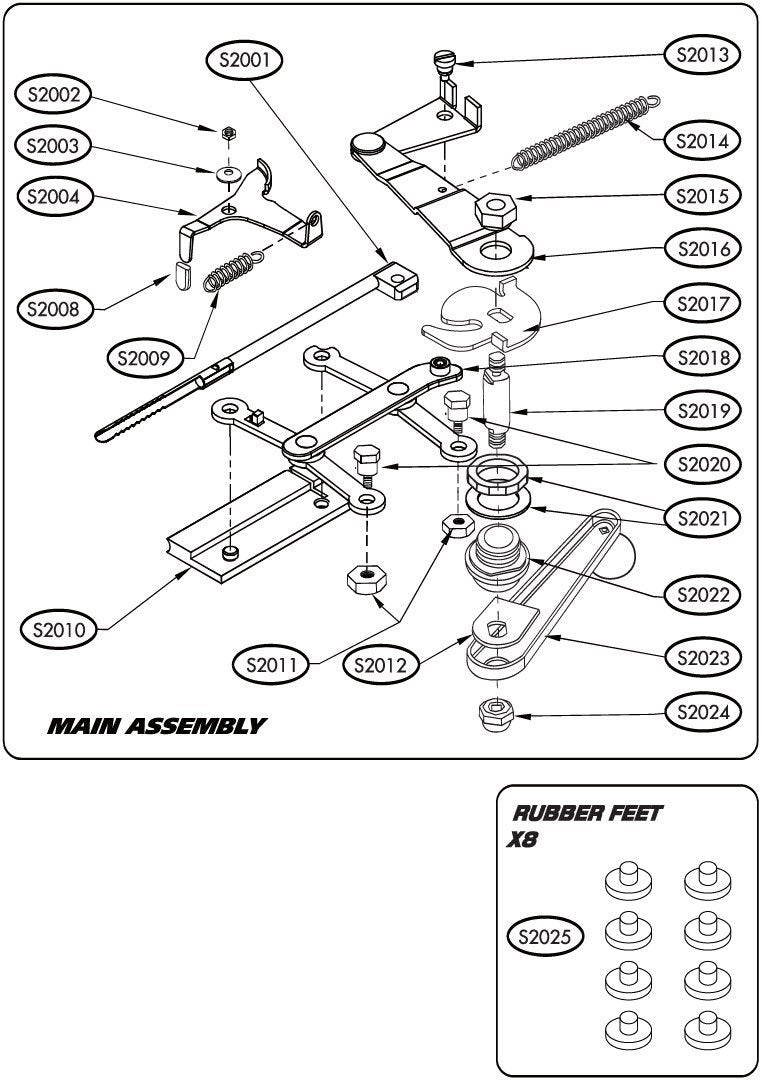 S2023 - Crank Handle Assembly