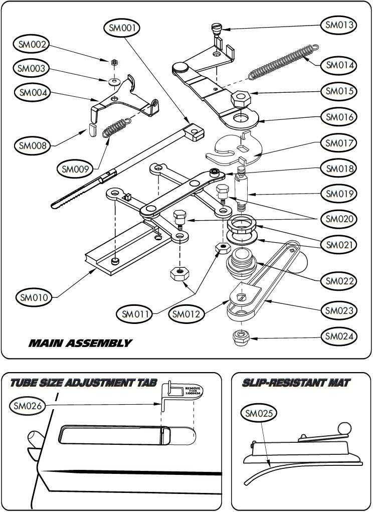 SM023 - Crank Handle Assembly