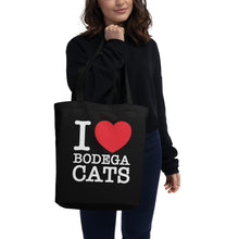 Load image into Gallery viewer, I <3 Bodega Cats Eco Tote Bag
