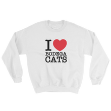 Load image into Gallery viewer, I Love Bodega Cats Crewneck (Black)