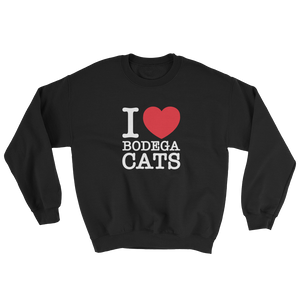 I Love Bodega Cats Crewneck (Black)