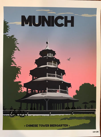 Chinese Tower Travel Poster