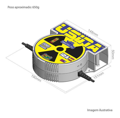 Carregador Inteligente De Baterias Usina Nauticline 12a 12v