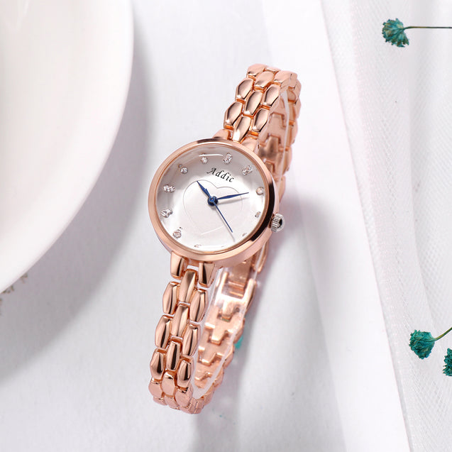 Addic Subtle Heart Rose Gold Designer Girls & Women's Watch