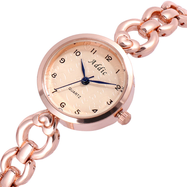 Addic Interlocked Elegance Rose Gold Women's & Girls Watch