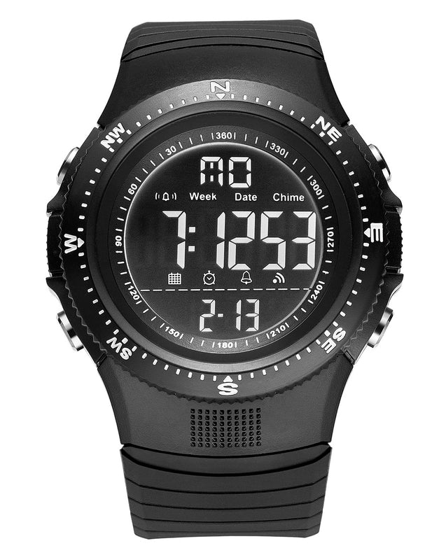 Digilog Hyper Sports Activewear Black Digital Multi Function Watch for Men & Boys (Day, Date, Alarm, Backlight, Stopwatch & More)