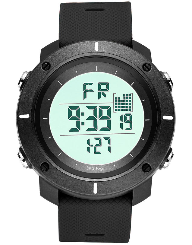 Digilog Force Midnight Black Activewear Classy Digital Multi Function Watch for Men & Boys