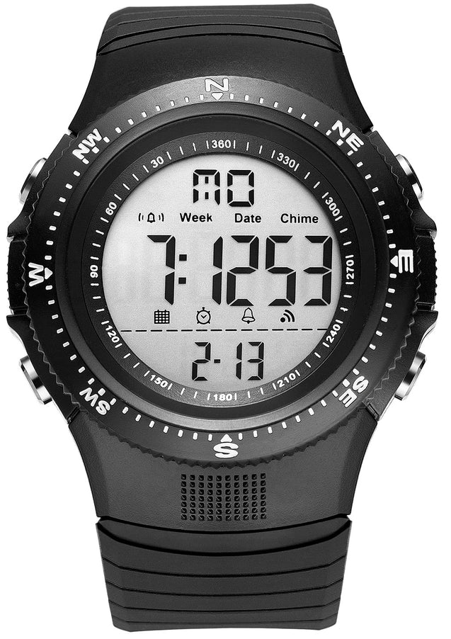 Digilog Hyper Sports Activewear Black & White Digital Multi Function Watch for Men & Boys (Day, Date, Alarm, Backlight, Stopwatch & More)