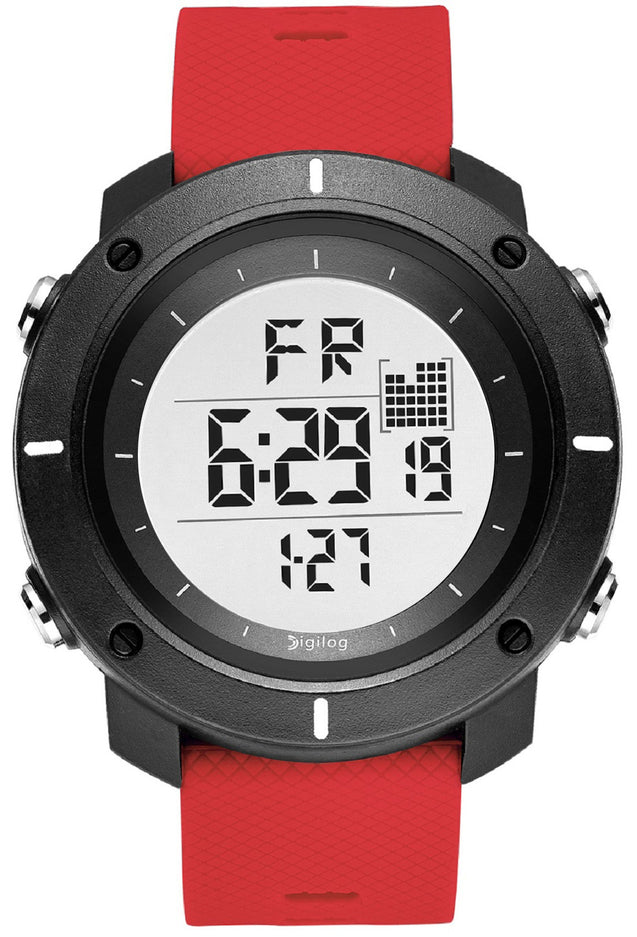 Digilog Force Bold Red Activewear Classy Digital Multi Function Watch for Men & Boys