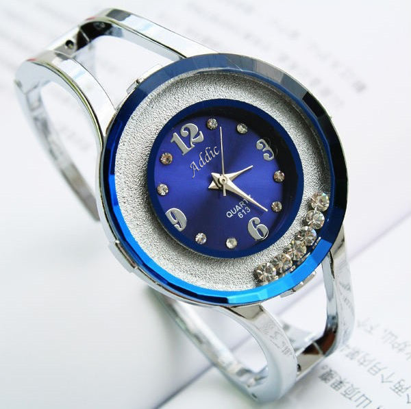 Addic Rolling Diamonds Amazing Blue Bracelet Watch for Women!