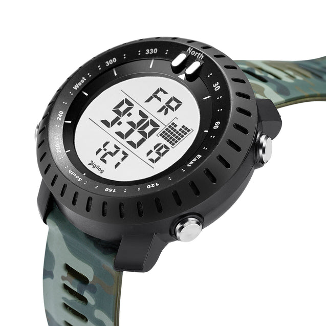 Digilog Badass Green Camouflage Digital Day Date Multifunction Watch for Men & Boys