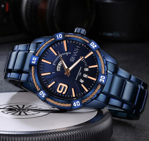 Wrath Devil's Blue Day & Date Luxury Men's Watch