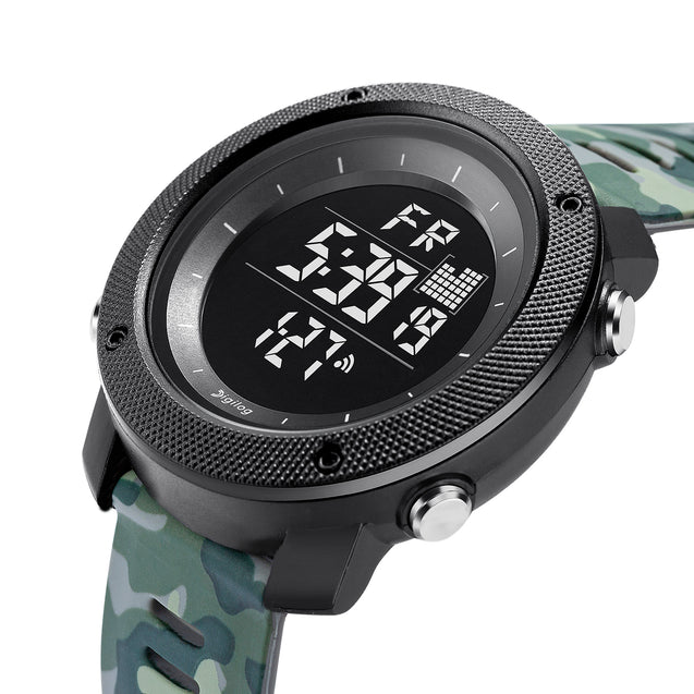 Digilog Special Ops Green Camouflage Black Dial Digital Multi Function Watch for Men & Boys