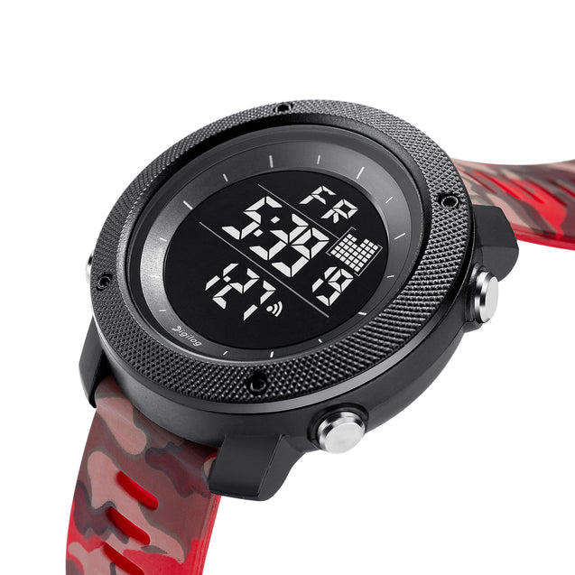 Digilog Special Ops Red Camouflage Black Dial Digital Multi Function Watch for Men & Boys