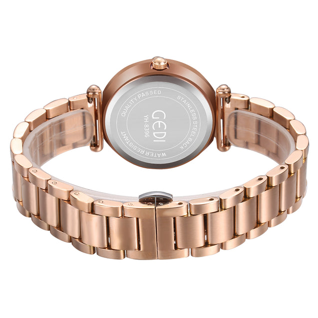 Gedi Haute Couture Starry Rose Gold Luxury Watch For Women & Girls