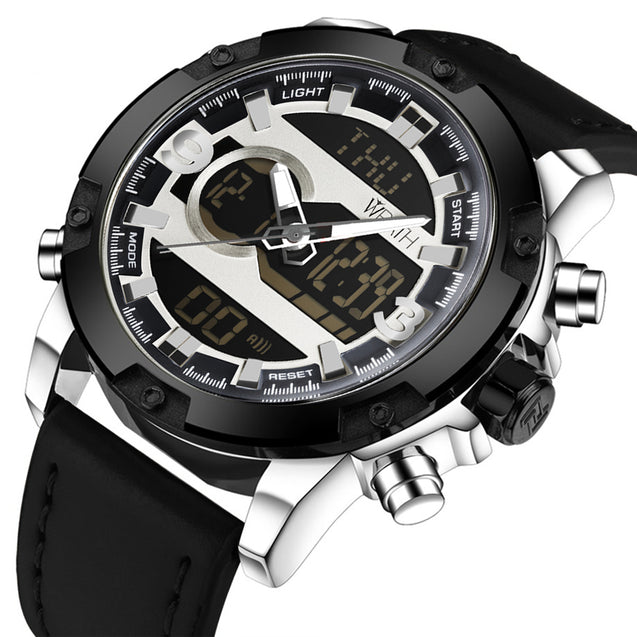 Wrath CEO's Choice White Dial Analog-Digital Multi-Function Luxury Watch For Men & Boys
