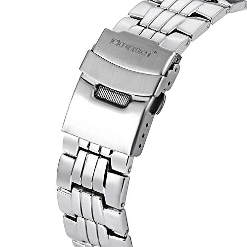Addic-Curren Luxury Lifestyle Silver Sports Watch for Men! (Wristwatch)