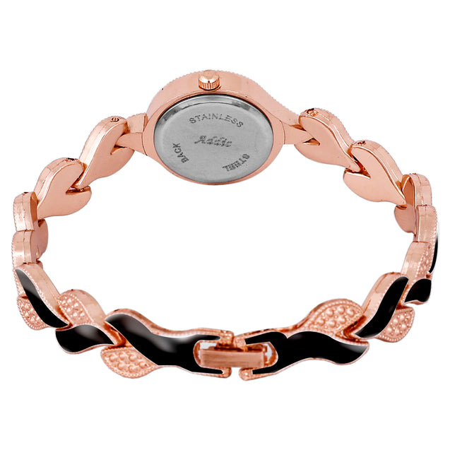 Addic An-Elegant-Persona Rose Gold & Black Girls & Women's Watch