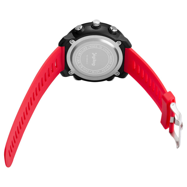 Digilog Wing Commander's Red Analog-Digital Dual Display Multi Function Watch for Men & Boys
