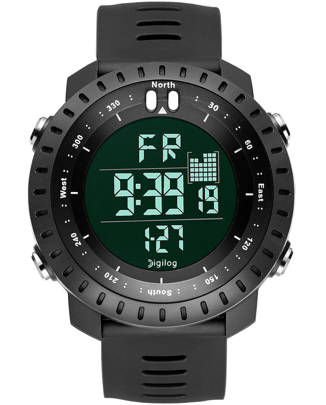Digilog Badass Black Digital Day Date Multifunction Watch for Men & Boys