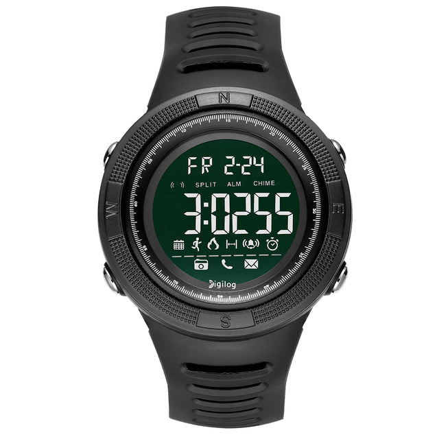 Digilog Wind Breaker Activewear Black Multi Function Watch for Men & Boys (Day, Date, Alarm, Backlight, Stopwatch & More)