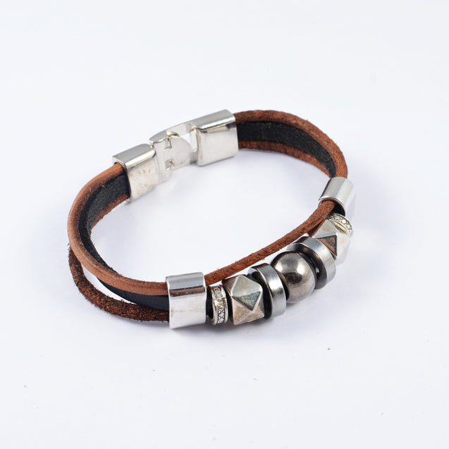Raw Rural Look Power Bracelet By Addic