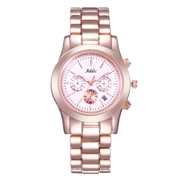 Addic Heritage & Charm Rose Gold Women's Watch