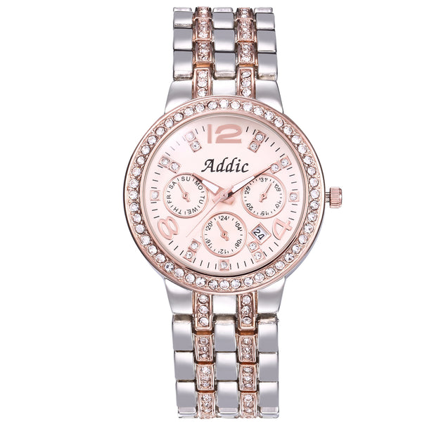 Addic Classic Mix of Style Silver Rose Gold Women's Watch