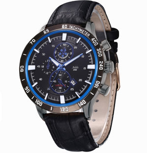 Addic Suave Sports Style Formal Luxury Men's Watch - Black