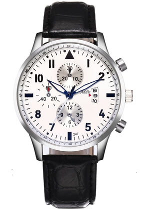 Addic Elegenant & Classy Three-Date Watch For Men - Black