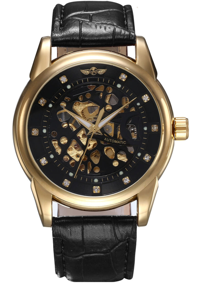 Winner Studded Super-Luxury Watch for Men (Without Battery For Life!) By Addic