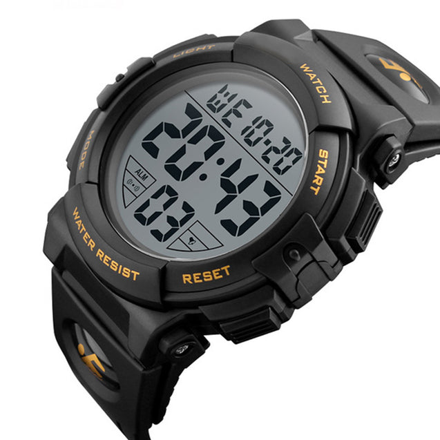 Digilog Diver's Display Black Yellow Multi Function Digital Sports Watch For Men & Boys