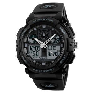 Skmei S-Shock Multi-Functional Black Dial Sports Watch for Men's & Boys (1270 Black)