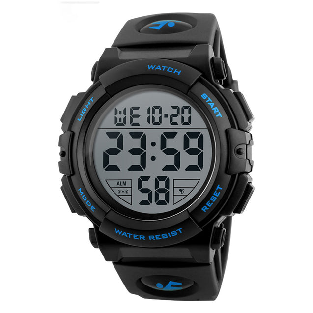 Digilog Diver's Display Blue Black Multi Function Digital Sports Watch For Men & Boys