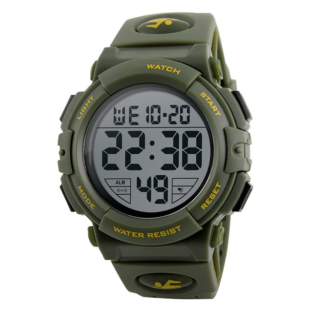 Digilog Diver's Display Green Yellow Multi Function Digital Sports Watch For Men & Boys
