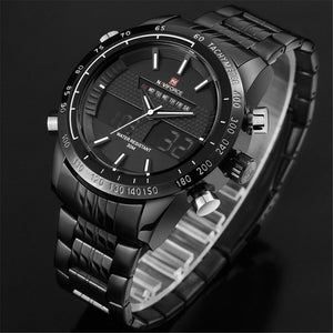 Wrath Black Day Date Window Screen Analog Digital Multi Function Wrist Watch for Men & Boys(NF9024B/B/W).
