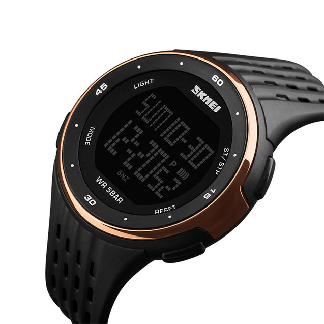 Skmei Digital Multi-functional Chronograph Rosegold Sports Watch for Men's & Boys