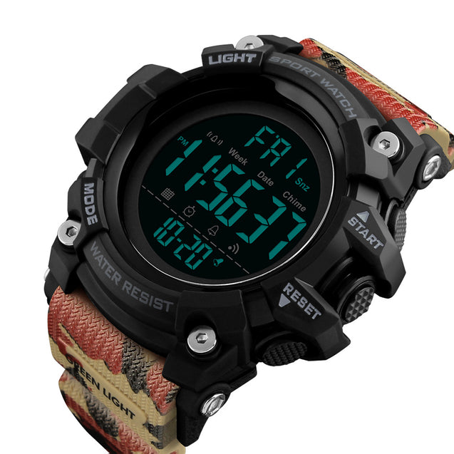 Digilog Super Fighter Camouflage Digital Display Multi Function Wrist Watch For Men & Boys