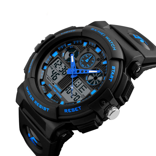 Skmei S-Shock Multi-functional Blue Dial Sports Watch for Men's & Boys