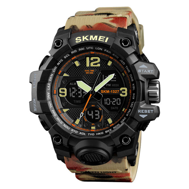 Skmei Analog Digital Multi-Function Sports Watch with Free Bracelet for Men & Boys