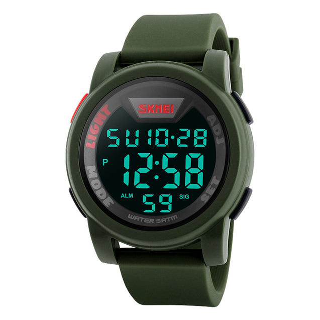 Skmei Digital Multi-functional Green Full Screen Sports Watch for Men's & Boys