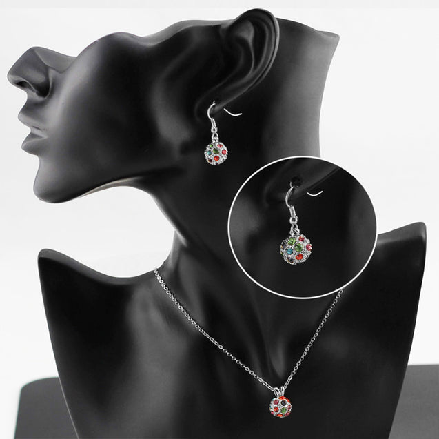 Addic Bold & Beautiful Silver Elegant Pendant & Eerrings Set for Girls and Women.