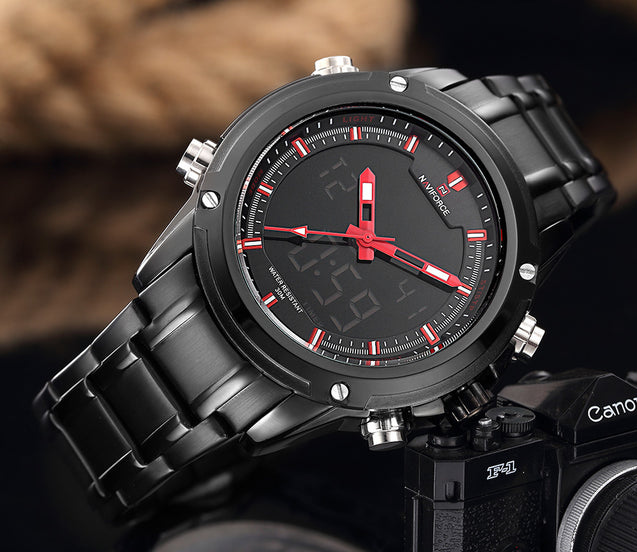 Naviforce Charming Black Red Luxury Men's Watch(NF9050)