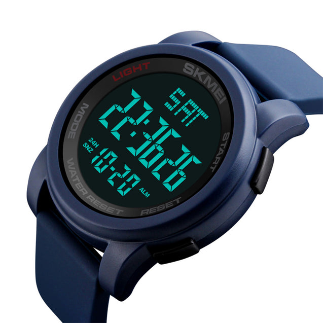 Skmei Digital Multi-functional Blue Outdoor Sports Watch for Men's & Boys