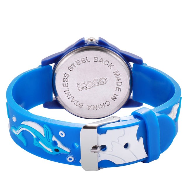 Kidzo Dolphin Buddies Blue Analog Kids Wrist Watch With 3D Strap
