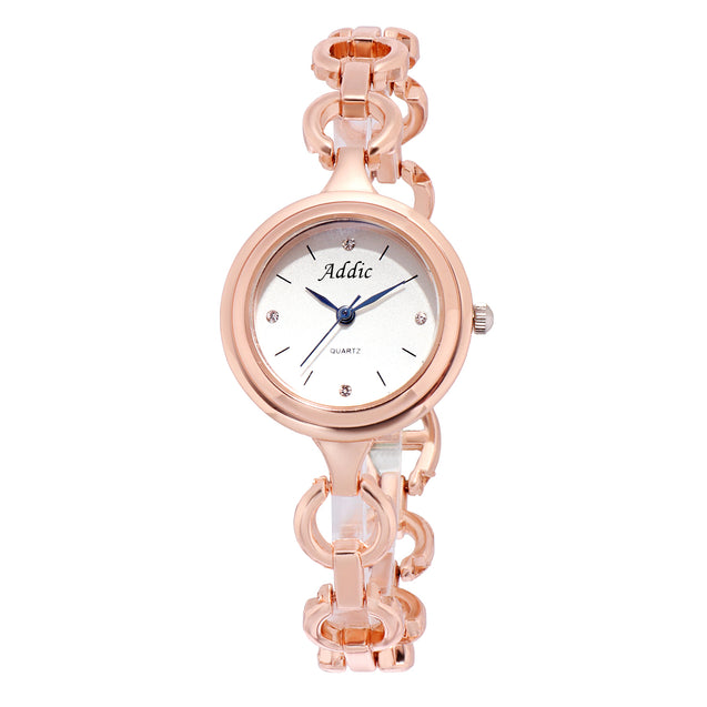 Addic Cute Blob Rose Gold Classy Watch For Women & Girls