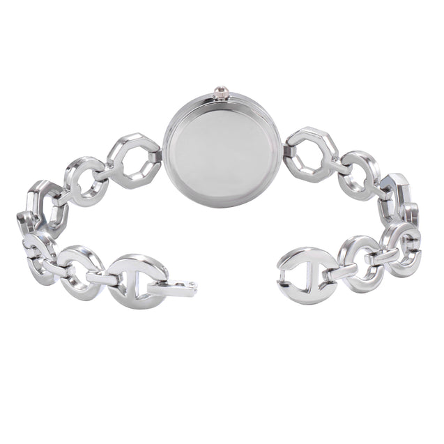 Addic Wonderfully Yours Silver Stylish Chain Watch For Women & Girls