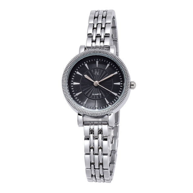Addic BL Queen of Jewels Stunning Silver Black Watch for Women & Girls.