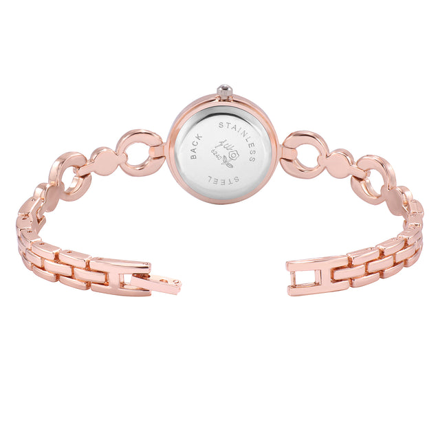 Addic Locked Links Lovely Rose Gold Watch For Women & Girls